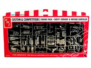 AMT maquette voiture PP010 Chrysler et Chevy Corvair Motors Pack de pieces 1/25