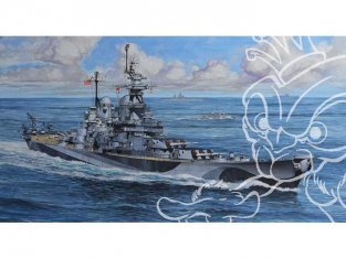 Revell maquette bateau Model Set 65128 USS Missouri (BB-63) 1/1200