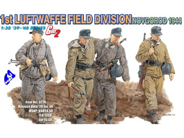 Dragon maquette militaire 6274 1st Luftwaffe Field division 1/35