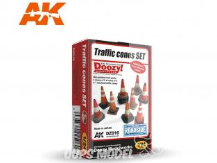 Ak Interactive Doozy DZ016 Set Cones de siganlisation 1/24