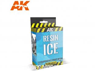 AK interactive ak8012 Glace Résine (Résine double composants) 150ML