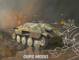 Italeri maquette militaire 15767 Jagdpanzer 38(t) Hetzer 1/56 28mm