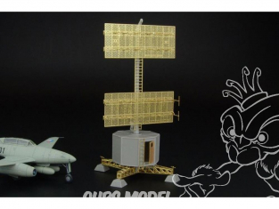 Brengun accessoire diorama avion BRS144001 radar station Allemande FREYA EGON I (FuS An 730) 1/144