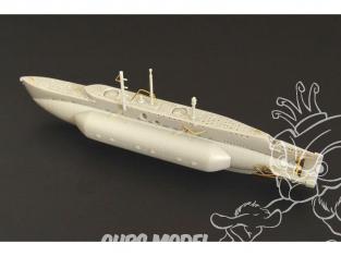 Brengun kit bateau BRS144017 HM Midget Sub X en resine 1/144