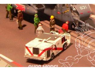 Brengun accessoire diorama avion BRS144014 Kit en résine du vehicule pompier de pont P-25 U.S. porte avions 1/144