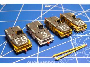 Brengun accessoire diorama avion BRS144025 Tracteur de pont MD-3 USN Kit en résine 1/144