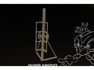 Brengun accessoire diorama avion BRS144032 Rampe remorque pour Bachem Natter Kit en résine et photodecoupe 1/144