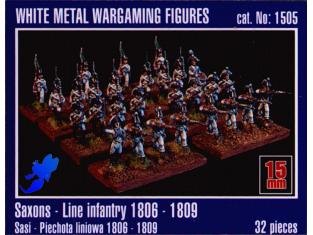 Mirage maquette FIGURINES 1505 Saxon ligne Infanterie 1/72