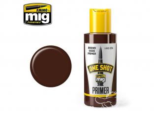 MIG One Shot Primer 2026 Appret acrylique Oxyde brun 60ml