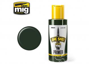 MIG One Shot Primer 2028 Appret acrylique Vert 60ml