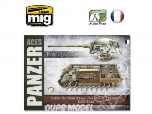 MIG Librairie EURO0019 Panzer Aces Profiles II Guide de camouflage des Chars Allemands de 1943 a 1945 en Français