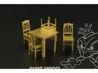 Brengun accessoire diorama avion BRL72013 Tables et chaises 1/72