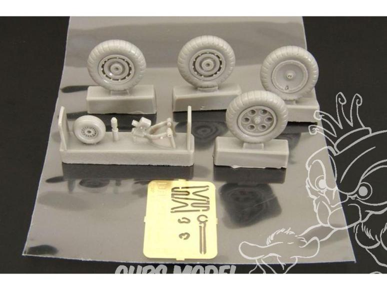 Brengun accessoire diorama BRL48037 Roues pour FW190 Early ou Late 1/48