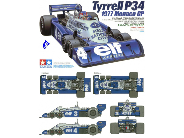 tamiya maquette voiture 20053 tyrell p34 1/20