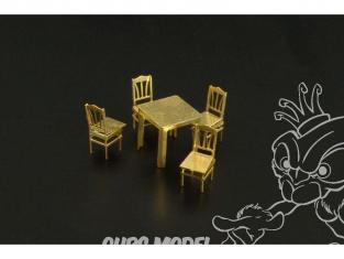 Brengun accessoire diorama BRL144028 Table et chaises 1/144