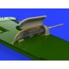 Eduard kit d'amelioration avion brassin 648403 Gun pods pour Messerschmitt Bf109G-6 Tamiya 1/48