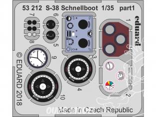 Eduard photodecoupe 53212 Amélioration S-38 Schnellboot Italeri 1/35