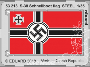 Eduard photodecoupe 53213 Drapeau métal S-38 Schnellboot Italeri 1/35