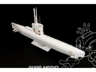 Brengun kit d'amelioration sous marin BRL144076 U-boot type XXIII kit exterieur pour kit ICM 1/144
