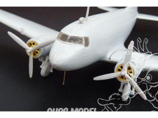 Brengun kit d'amelioration avion BRL144071 Douglas C-47 ou Lisunov Li-2 pour kit Eastern Express 1/144