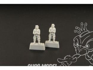 Brengun Figurine avion BRL144080 Pilotes Japonais 2 piéces WWII 1/144