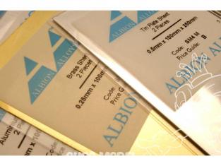 Albion Alloys SM10M 2 Plaques aluminium 0,276mm x 100mm x 250mm