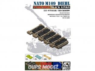 Afv club accessoire vehicule militaire 35307 SET CHENILLES MAILLON PAR MAILLON pour M109 DIEHL FORCES DE L'OTAN 1/35