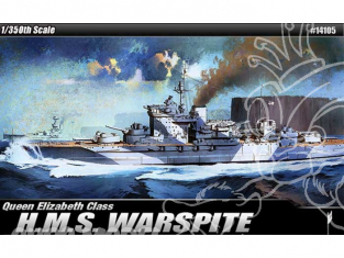 ACADEMY maquettes bateau 14105 H.M.S. WARSPITE QUEEN ELIZABETH 1/350