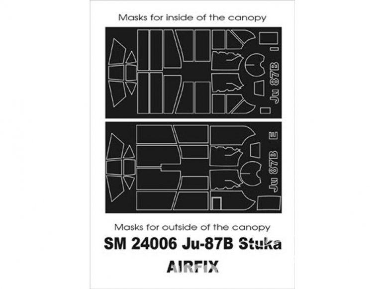 Montex Mini Mask SM24006 Junkers Ju-87B Airfix 1/24
