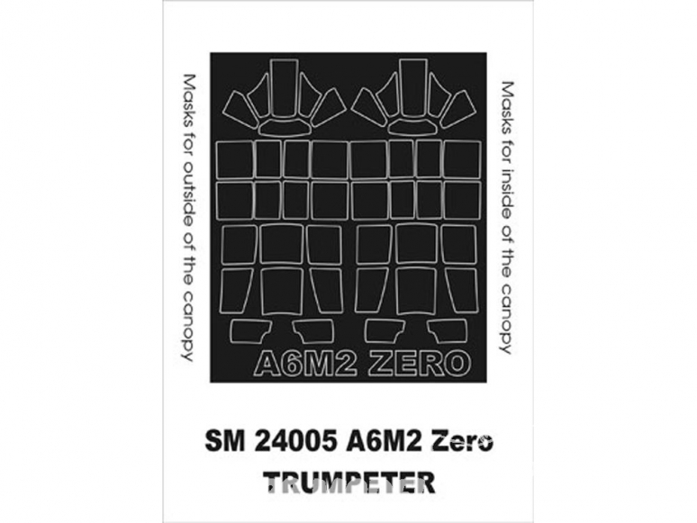 Montex Mini Mask SM24005 A6M2b Zero Trumpeter 1/24