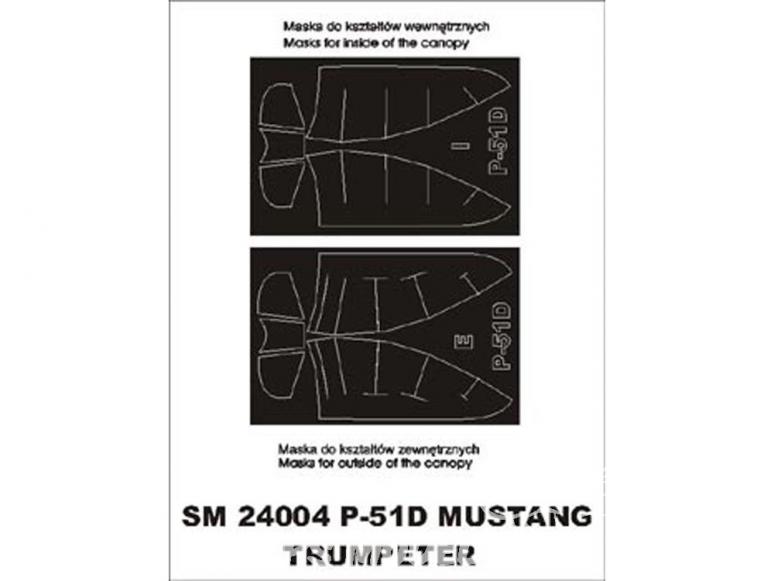 Montex Mini Mask SM24004 P-51D Mustang Trumpeter 1/24