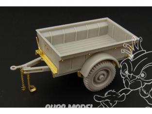Hauler kit resine HLX48225 Remorque US pour Jeep 1/48