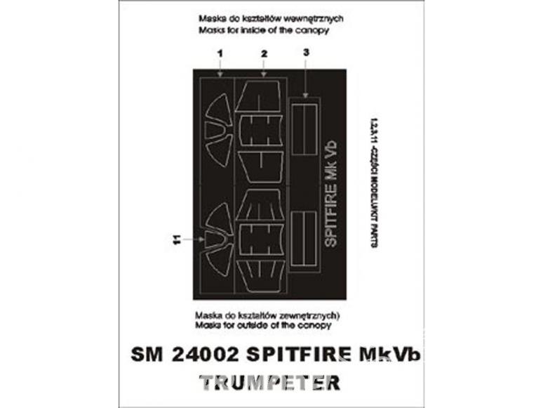 Montex Mini Mask SM24002 Spitfire Mk Vb Trumpeter 1/24
