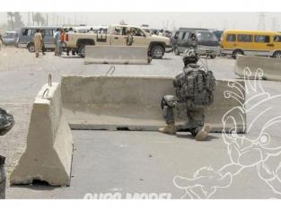 Brengun accessoire diorama militaire HLF48009 Barrières de route en béton modernes 1/48