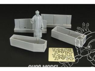 Brengun accessoire diorama militaire HLF48006 Prêtre et cercueils 1/48