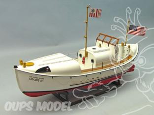 Dumas Kit bateau bois 1258 USCG 36500 MOTOR LIFEBOAT 1/16