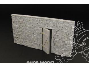Hauleur accessoire diorama militaire HLF48008 Mur en pierre seche avec porte (en resine) 1/48