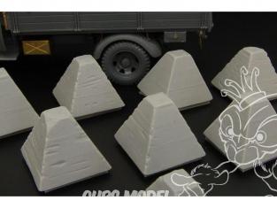 Hauleur accessoire diorama militaire HLX48367 Pièges de char dents de Dragons (en resine) 1/48