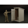 Hauler accessoire diorama militaire HLF48015 Latrine (en resine et photodecoupe) 1/48