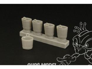 Hauler accessoire diorama HLF48018 Baignoires facons bois en resine 1/48