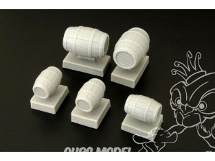 Hauler accessoire diorama HLF48344 Barils de bois en resine 1/48