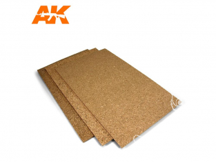 AK interactive ak8054 Feuilles de liège - Gros grain - 200x300x3mm x2