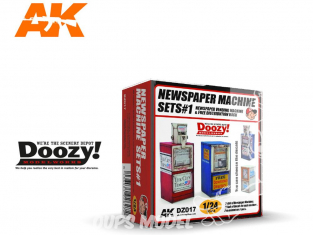 Ak Interactive Doozy DZ017 Set 1 Machine à Journaux 1/24