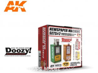 Ak Interactive Doozy DZ018 Set 2 Machines à Journaux 1/24