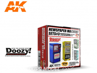 Ak Interactive Doozy DZ019 Set 3 Machines à Journaux 1/24