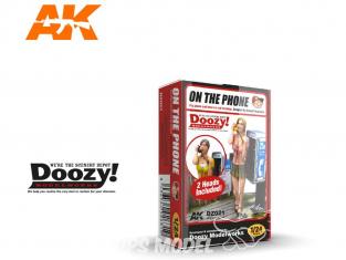 Ak Interactive Doozy DZ021 Au téléphone - Figurine - 2 têtes incluses 1/24