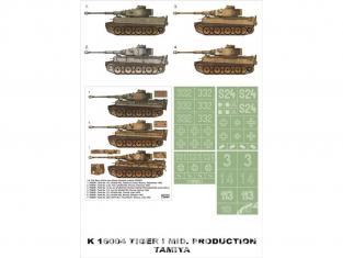 Montex Super Mask K16004 Sd.Kfz.181 Tigre I Tamiya 1/16