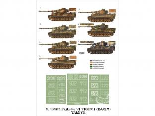 Montex Super Mask K16005 Pz.Kpfw VI Tigre I Début de production Tamiya 1/16