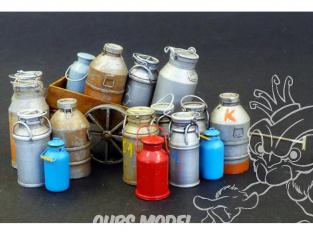 Plus Model Diorama 508 Bidons de lait  en resine et photodecoupe 1/35