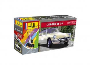 Heller maquette voiture 56162 Citroen DS19 Inclus peintures principale colle et pinceau 1/72